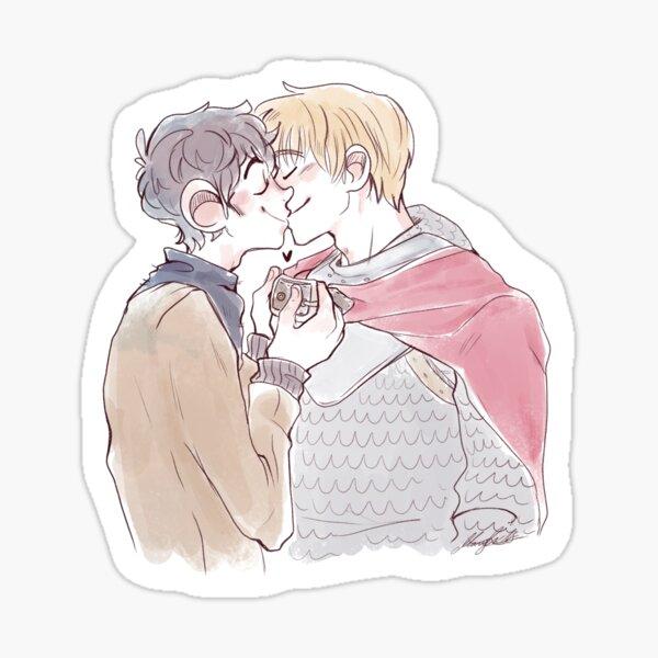Merthur kiss Sticker