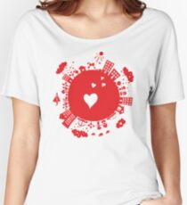 planet in love Women's Relaxed Fit T-Shirt