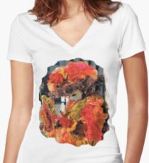 Lady in red Women's Fitted V-Neck T-Shirt