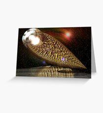 Intergalactic Casket Greeting Card