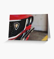 RX3 Rotary Mazda Greeting Card
