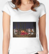 Ewok BBQ Women's Fitted Scoop T-Shirt