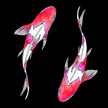 Rosa Koi-Fisch von skinnyginny