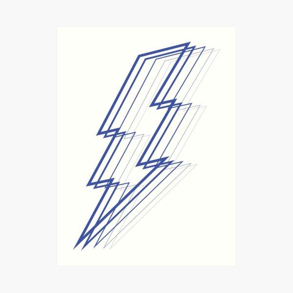 Blue Lightning Art Print