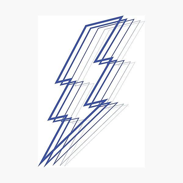 Blue Lightning Photographic Print