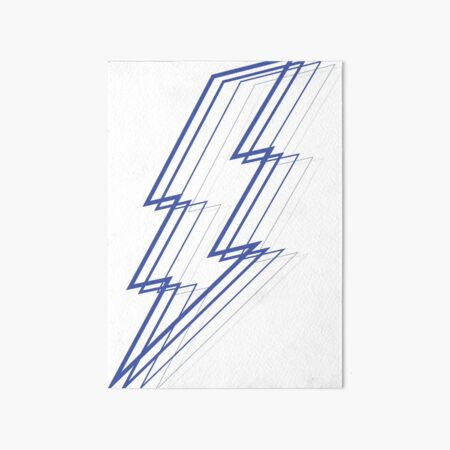 Blue Lightning Art Board Print