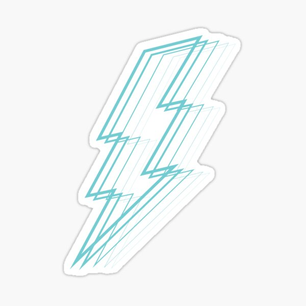 Turquoise Lightning Sticker