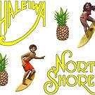 Haleiwa Surf Sticker Pack by northshoresign