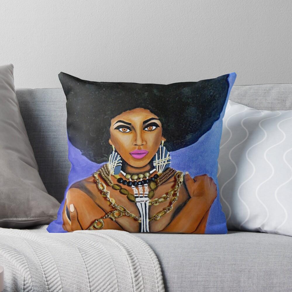 Afro Goddess Throw Pillow