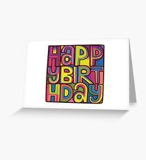 Happy Birthday Card Greeting Card