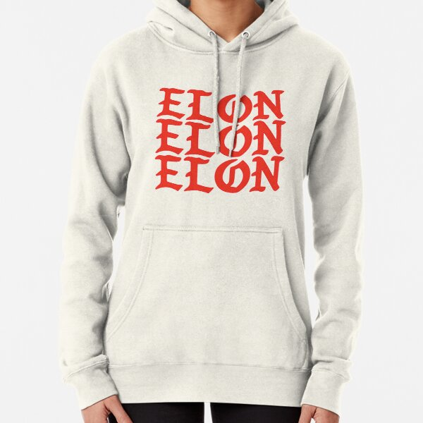 Elon Gothic Font Pullover Hoodie