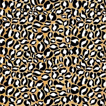 Gold Leopard Print | Cheetah texture pattern by koovox