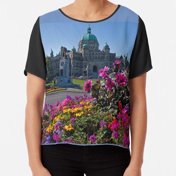 Canada. British Columbia. Victoria. Parliament. Chiffon Top