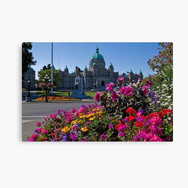 Canada. British Columbia. Victoria. Parliament. Canvas Print