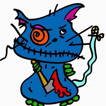 Revenge of the Firework kittie! by raggydolly666