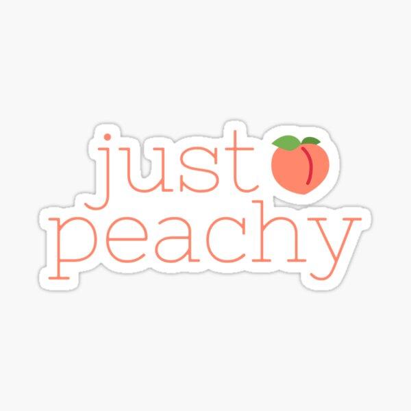 Just Peachy with Peach Logo Sticker