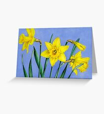 Yellow Daffodils Watercolor Greeting Card