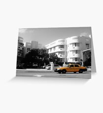 Big Yellow Taxi on Collins Greeting Card