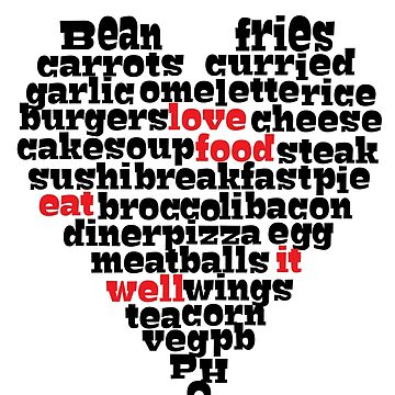 Love food heart design  by sledgehammer
