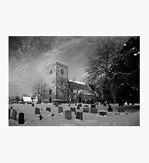 Compton Church in the Snow - Berkshire, UK Photographic Print