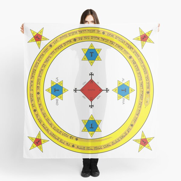Goetia Circle - Mathers & Crowley version – Full redraw and corrected Scarf