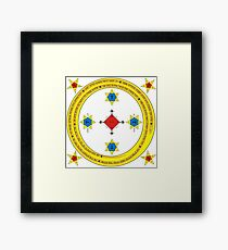 Goetia Circle - Mathers & Crowley version – Full redraw and corrected Framed Print