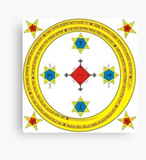 Goetia Circle - Mathers & Crowley version – Full redraw and corrected Canvas Print