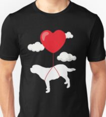 Saint Bernard Valentine's Day T-Shirt Gift for Dog Owner Unisex T-Shirt