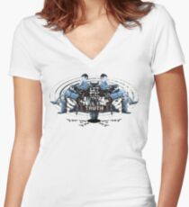 Visionaries #2 - Nikola Tesla - Building It In Your Imagination Women's Fitted V-Neck T-Shirt