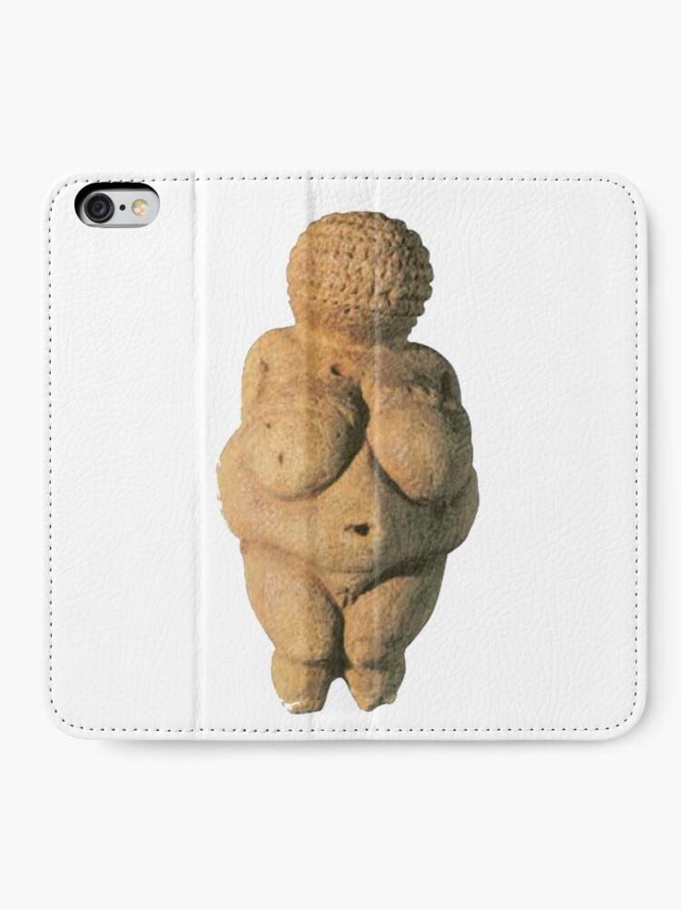Alternate view of #Venus of #Willendorf #artifact sculpture art figurine statue humanbody #VenusofWillendorf iPhone Wallet