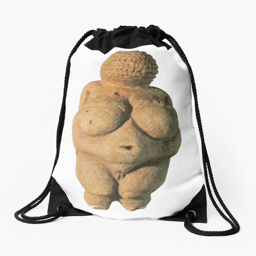 #Venus of #Willendorf #artifact sculpture art figurine statue humanbody #VenusofWillendorf Drawstring Bag