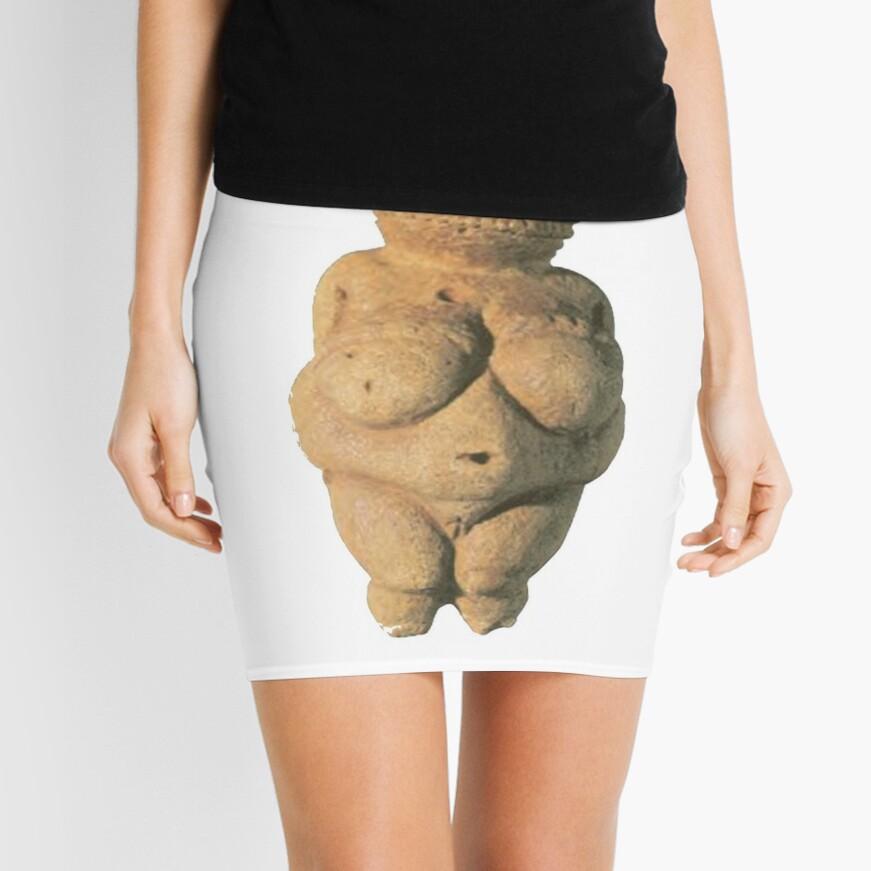 #Venus of #Willendorf #artifact sculpture art figurine statue humanbody #VenusofWillendorf Mini Skirt