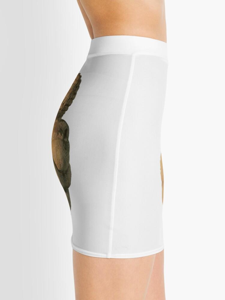 Alternate view of #Venus of #Willendorf #artifact sculpture art figurine statue humanbody #VenusofWillendorf Mini Skirt