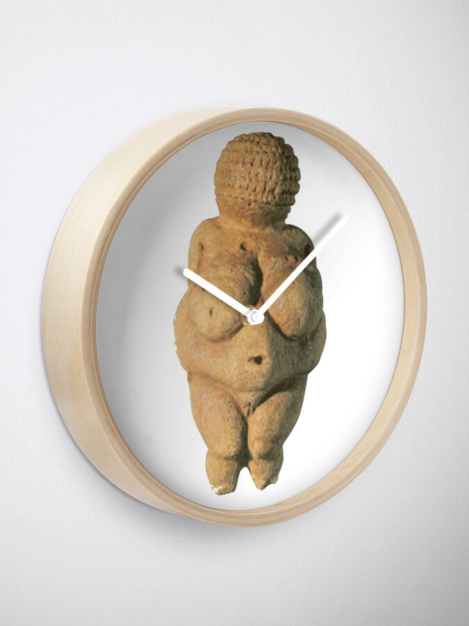 Alternate view of #Venus of #Willendorf #artifact sculpture art figurine statue humanbody #VenusofWillendorf Clock