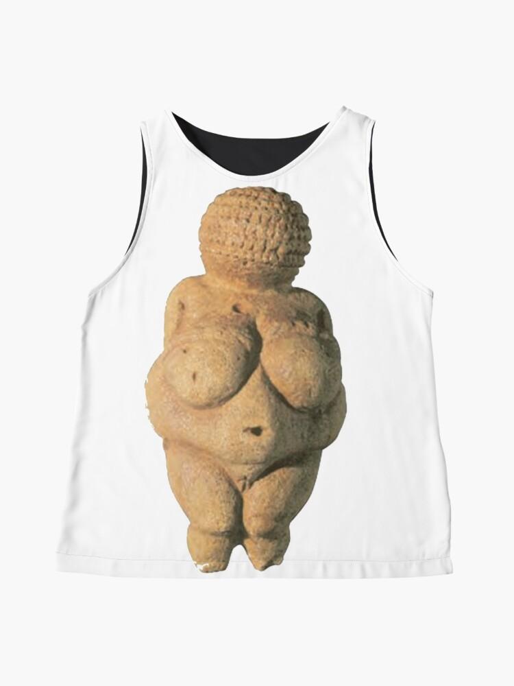 Alternate view of #Venus of #Willendorf #artifact sculpture art figurine statue humanbody #VenusofWillendorf Sleeveless Top