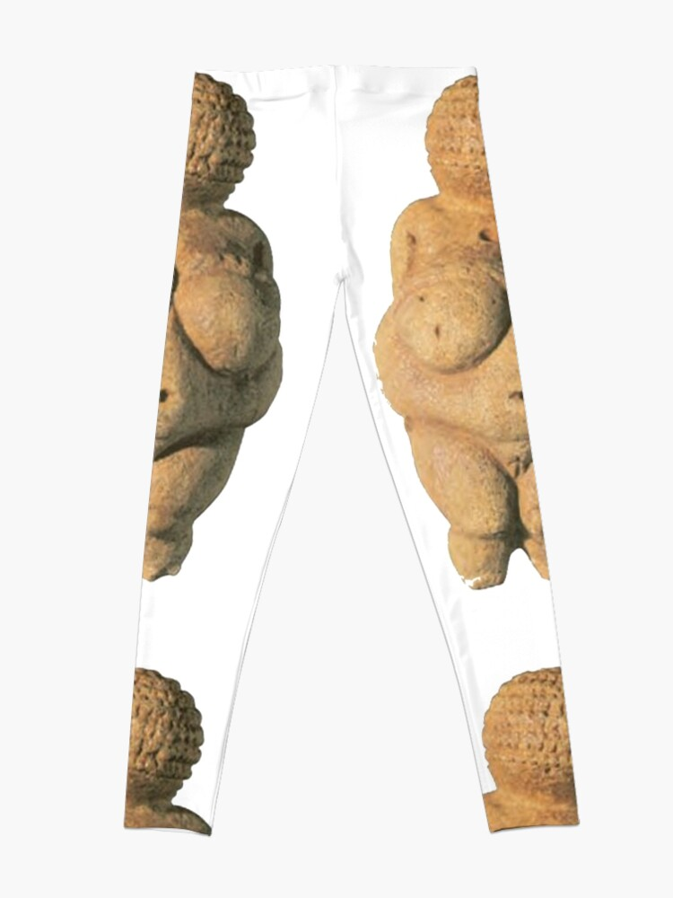 Alternate view of #Venus of #Willendorf #artifact sculpture art figurine statue humanbody #VenusofWillendorf Leggings
