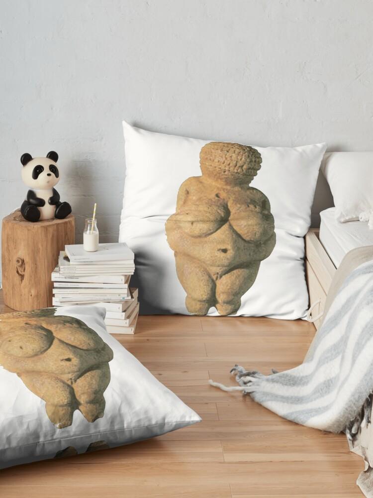 Alternate view of #Venus of #Willendorf #artifact sculpture art figurine statue humanbody #VenusofWillendorf Floor Pillow