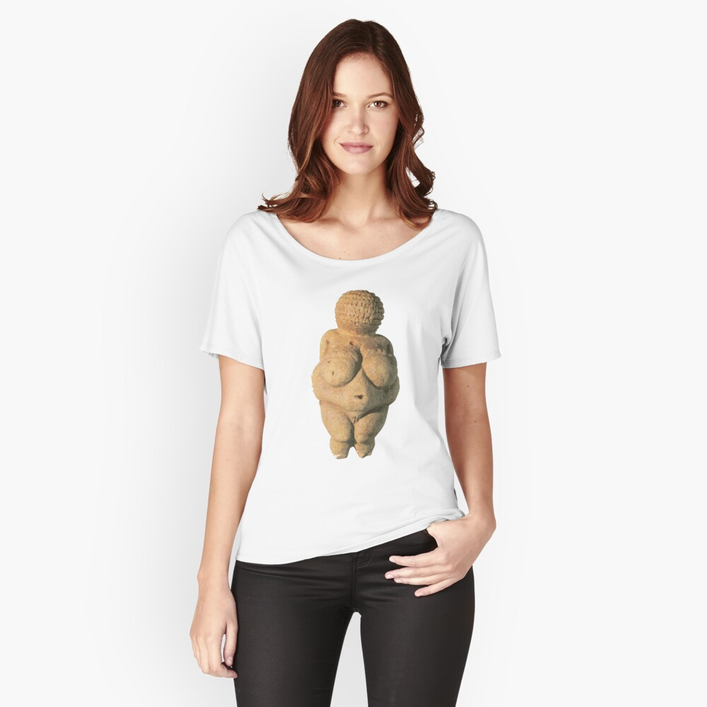 #Venus of #Willendorf #artifact sculpture art figurine statue humanbody #VenusofWillendorf Relaxed Fit T-Shirt