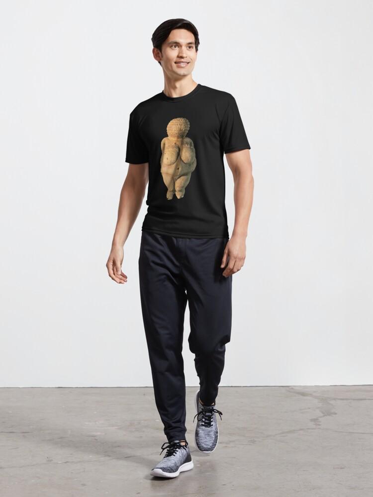 Alternate view of #Venus of #Willendorf #artifact sculpture art figurine statue humanbody #VenusofWillendorf Active T-Shirt