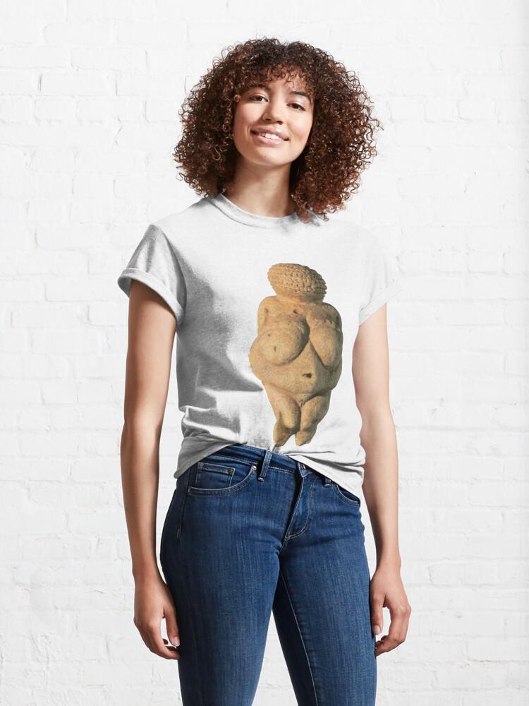 Alternate view of #Venus of #Willendorf #artifact sculpture art figurine statue humanbody #VenusofWillendorf Classic T-Shirt