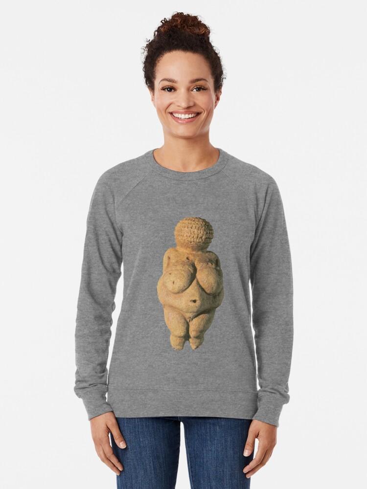 Alternate view of #Venus of #Willendorf #artifact sculpture art figurine statue humanbody #VenusofWillendorf Lightweight Sweatshirt