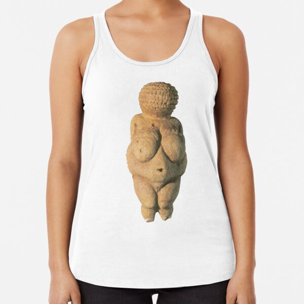 #Venus of #Willendorf #artifact sculpture art figurine statue humanbody #VenusofWillendorf Racerback Tank Top