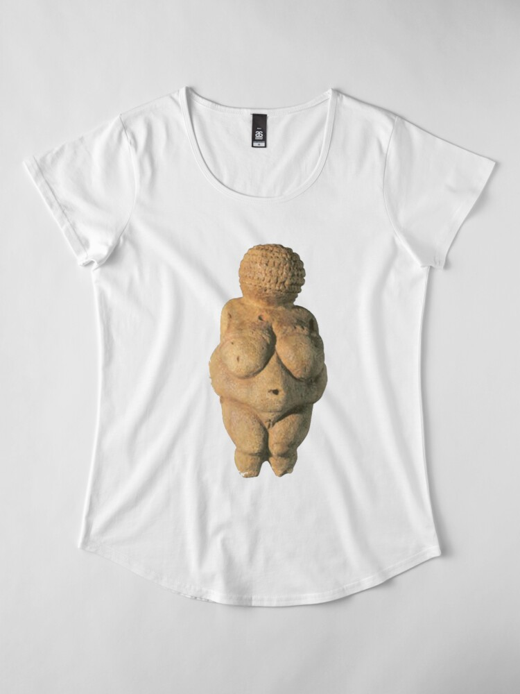 Alternate view of #Venus of #Willendorf #artifact sculpture art figurine statue humanbody #VenusofWillendorf Premium Scoop T-Shirt
