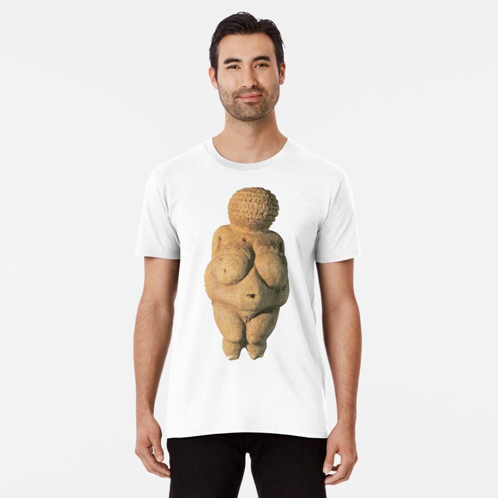#Venus of #Willendorf #artifact sculpture art figurine statue humanbody #VenusofWillendorf Premium T-Shirt