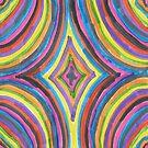 Retro Circles Rainbow Print by DanielleGensler