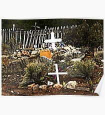 Church Yard at Golden, New Mexico Poster