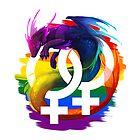 Lesben Stolz Drachen von kaenith