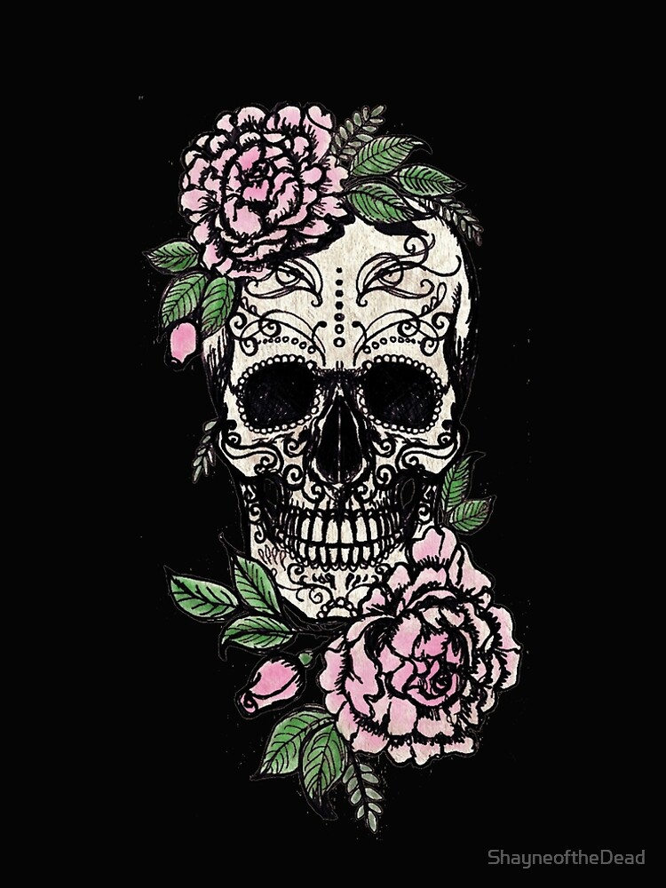 Sugar Skull & Roses by ShayneoftheDead