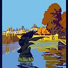 Vintage Fontainbleau France Travel Vacation Holiday Advertisement Art Poster by jnniepce