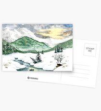 A winter landscape Postcards